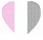 Pink-gray-white